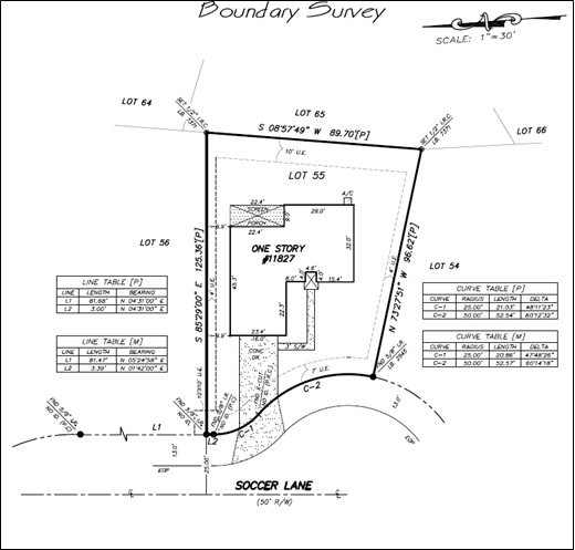 CAD Drafting Boundary Survey
